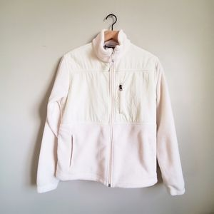 COLUMBIA IVORY FLEECE ZIP UP JACKET